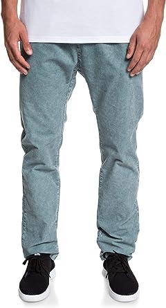 Quiksilver - Pantalón Tipo Chándal de Pana - Hombre - M - Azul ...