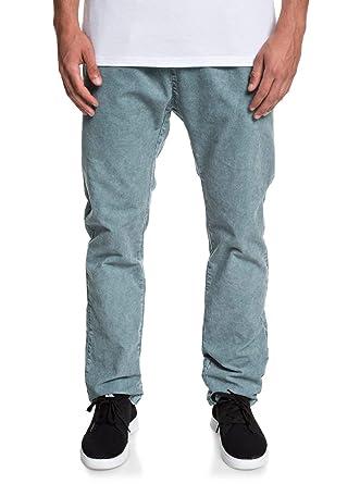 Quiksilver - Pantalón Tipo Chándal de Pana - Hombre - S - Azul ...