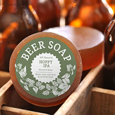 Swag Brewery Beer Soap (Hoppy IPA) - All Natural + Made in USA - Actually Smells Good for Beer Lovers