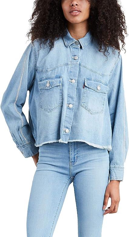 Camisa Vaquera Levis Addison Pretty Azul Mujer M Azul: Amazon.es: Ropa y accesorios