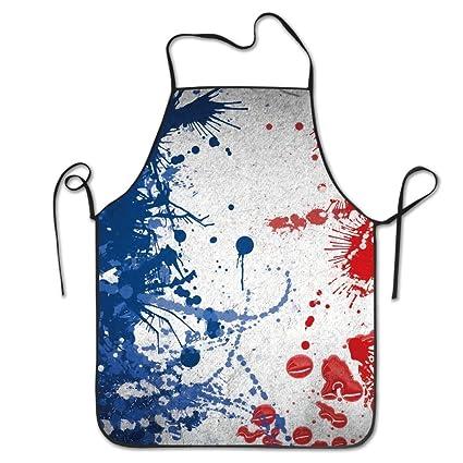 Unisex cocina delantales de bandera de Francia pintura Chef delantal delantal barbacoa delantales