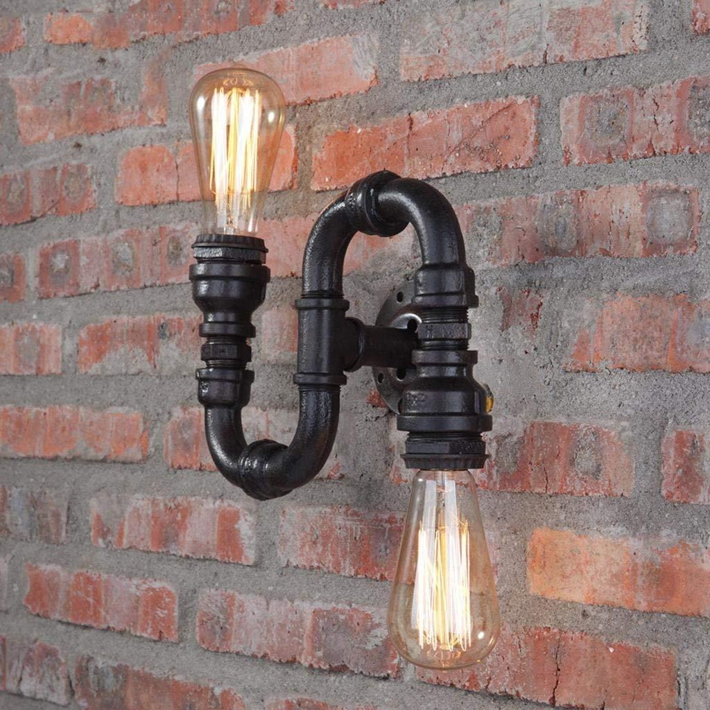 Europäische Pastorale Retro Industrie Wandleuchte American Village Schmiedeeisen Kreative Persönlichkeit Treppe Lampe Wasser Rohr Wandleuchte E27 Sockel 110 V-240 V
