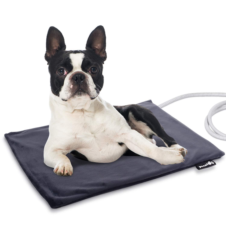 Pecute Tappetino Riscaldante per Animali Domestici,50 * 40cm Tappeto Termico Elettrico Cuccia Letto per Cani Gatti con Copertura Impermeabile Rimovibile (M)