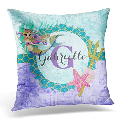 Emvency Throw Pillow Cover Teal Plain Simple Gradient Turquoise Blue Purple Periwinkle Decorative Pillow Case Home Decor Square 20 x 20 Inch Pillowcase