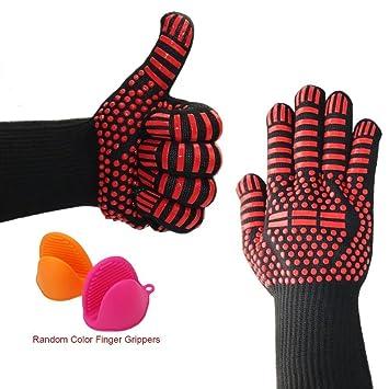 Guantes de barbacoa – Accesorios de parrilla – Mejores guantes de cocina – Guantes de parrilla