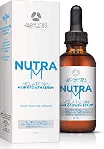 NutraM Hair Regrowth Serum for Thinning Hair for Men and Women - Topical DHT Blocker, Reverse Alopecia and Hair Loss, Strengthen Hair with Melatonin, Best in Hair Growth Products – Guaranteed