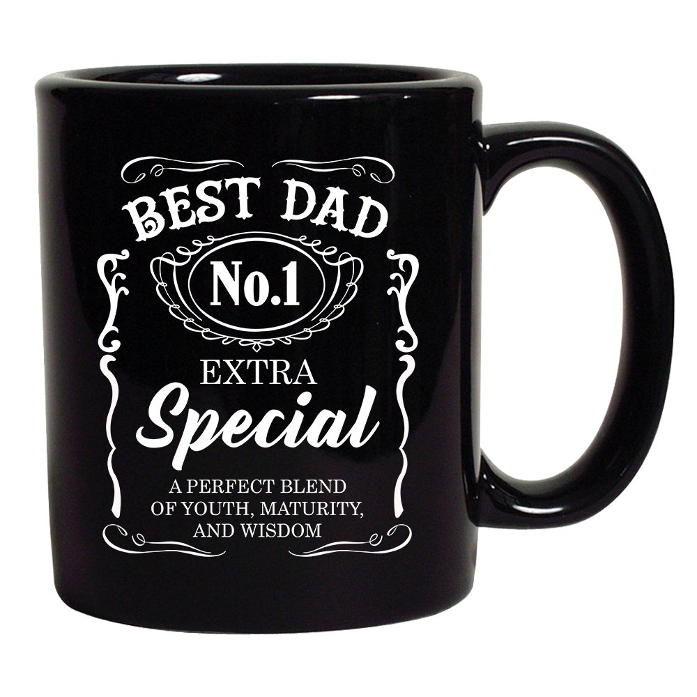 Best Dad No.1 Extra Special Awesome Funny Humor DT Coffee 11 Oz Black Mug