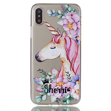 coque iphone x silicone licorne