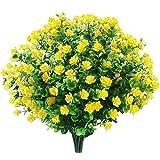 6 Bundles Artificial Flowers Outdoor Fake Flowers for Decoration UV Resistant No Fade Faux Plastic Plants Garden Porch…