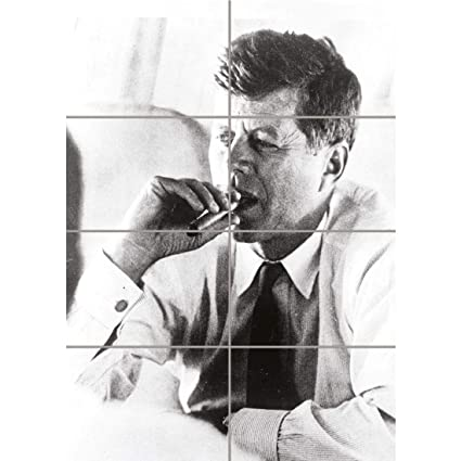 1420a22324d Image Unavailable. Image not available for. Color  PANEL ART PRINT VINTAGE  PHOTOGRAPH PRESIDENT JOHN KENNEDY SMOKE CIGAR JFK USA REPRODUCTION POSTER  OZ4758