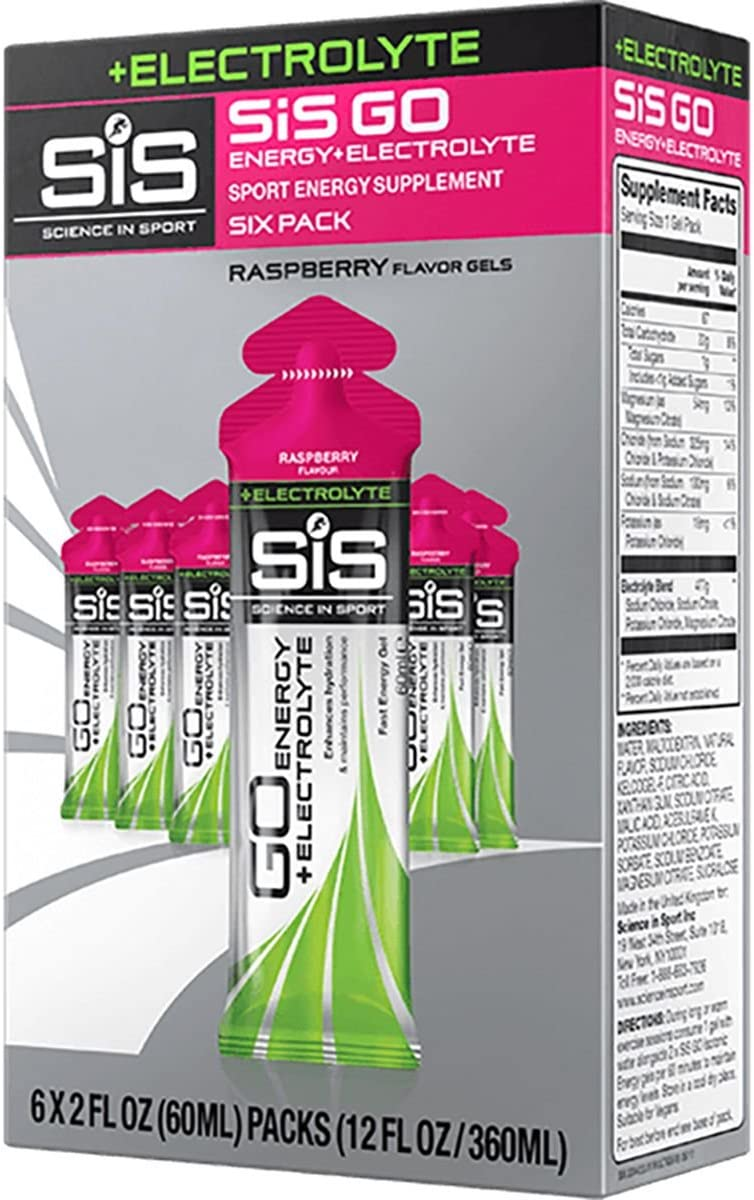 Science in Sport GO Energy Plus Electrolyte Gels Raspberry, 60ml 30-Pack