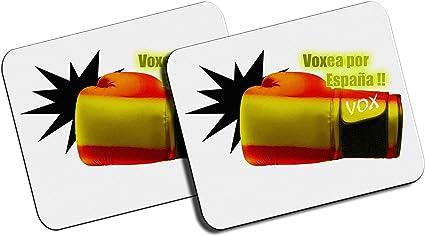 PACK 2 ALFOMBRILLAS PEQUEÑAS VOXEA POR ESPAÑA mousepad raton: Amazon.es: Oficina y papelería