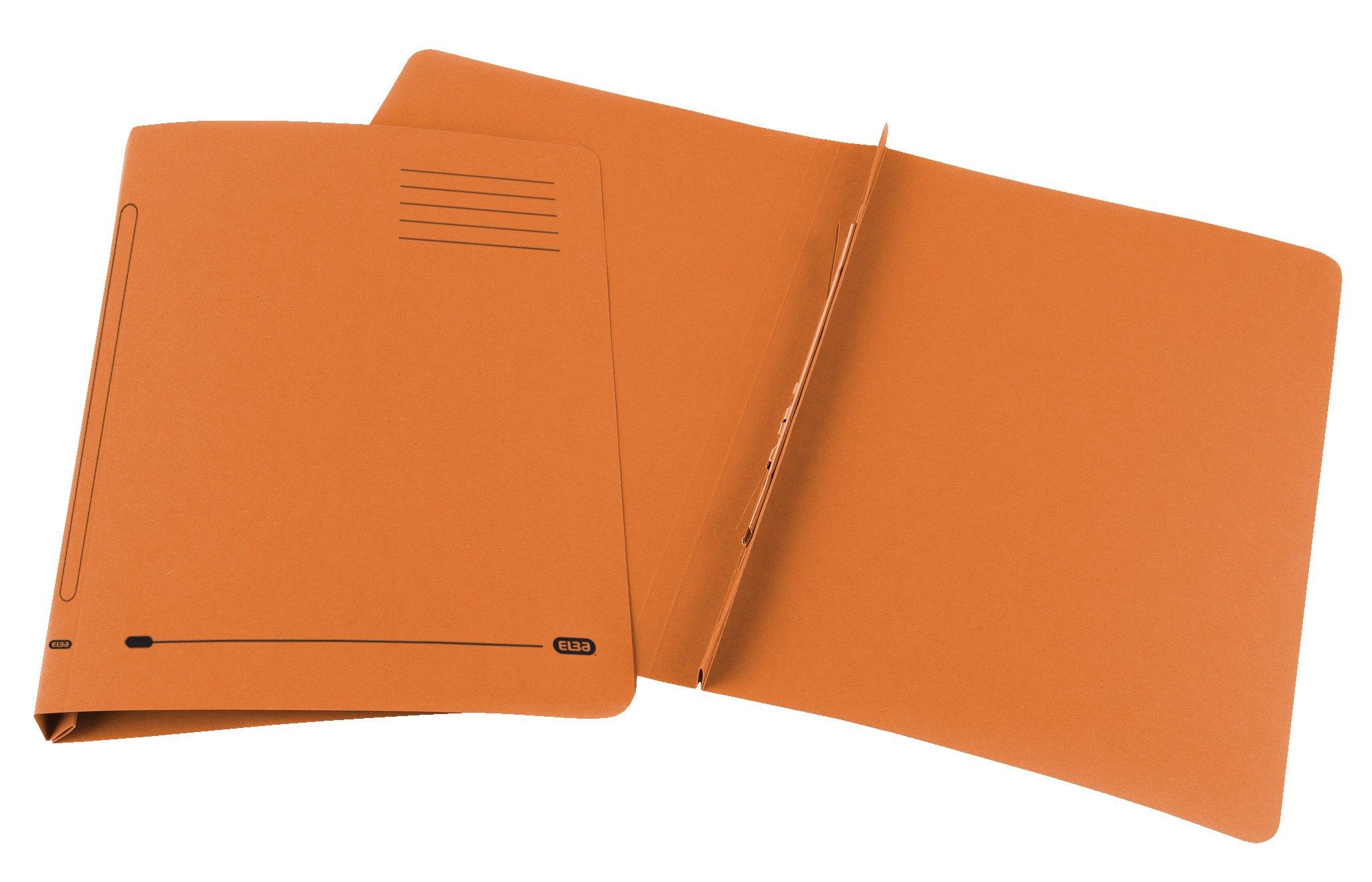 Elba Ashley Flat File 315gsm Capacity 35mm Foolscap Orange Ref 30316 [Pack of 25]