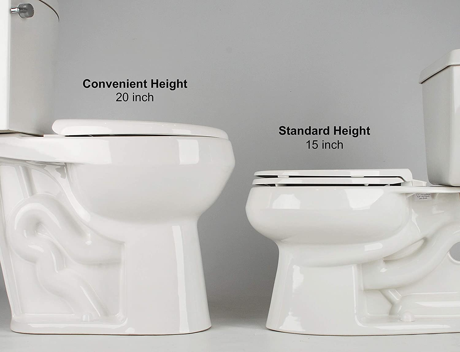 20 Inch Extra Tall Toilet Bowl Taller Than Ada Or Comfort Height