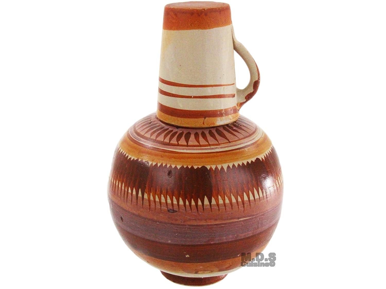 Botellon De Barro sin plomo terracota jarra de agua 4QT plomo tradicional: Amazon.es: Hogar