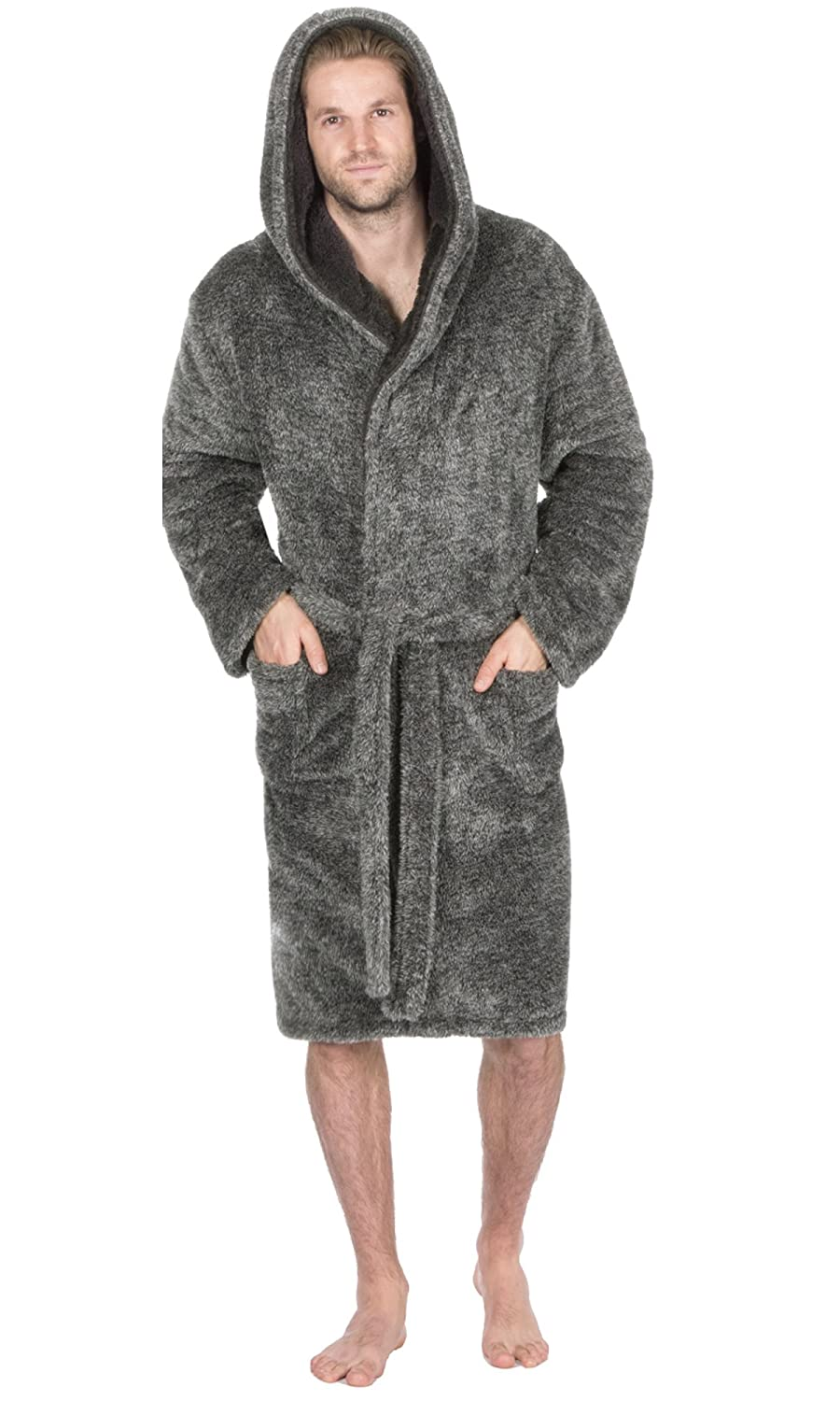 Mens Supersoft Housecoat Fleece Bath Robe Dressing Gown Gents Warm ...
