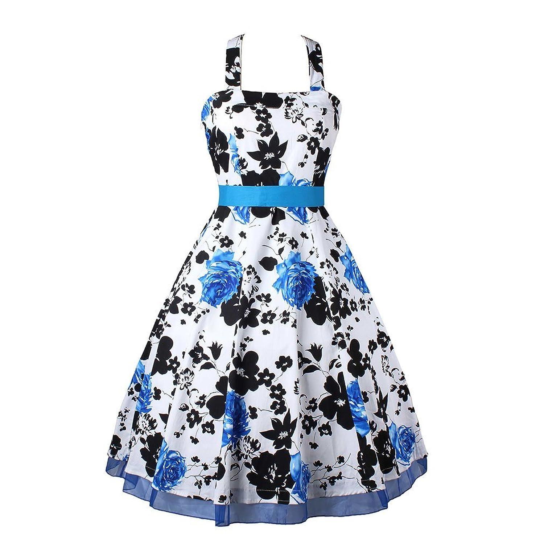 Weinlese-Kleid-Kekexili kein Bild Hülse mit Blumen Rüschen backless Abendkleid