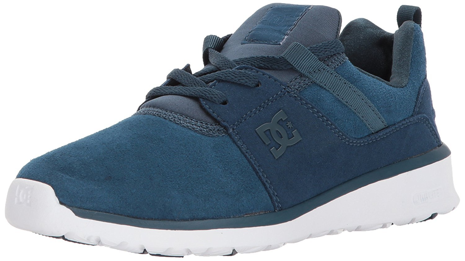 DC Women's Heathrow SE Skate Shoe B018SEJXPC 5 B(M) US|Navy/Gold