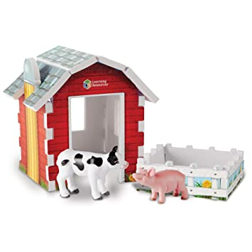 Playmobil 4897 Country Take Along Farm with Carry Handle and Fold-Out Stables