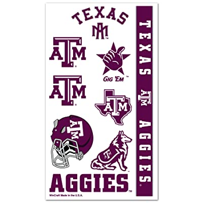 WinCraft NCAA Texas A&M University 14322013 Tattoos : Childrens Temporary Tattoos : Sports & Outdoors