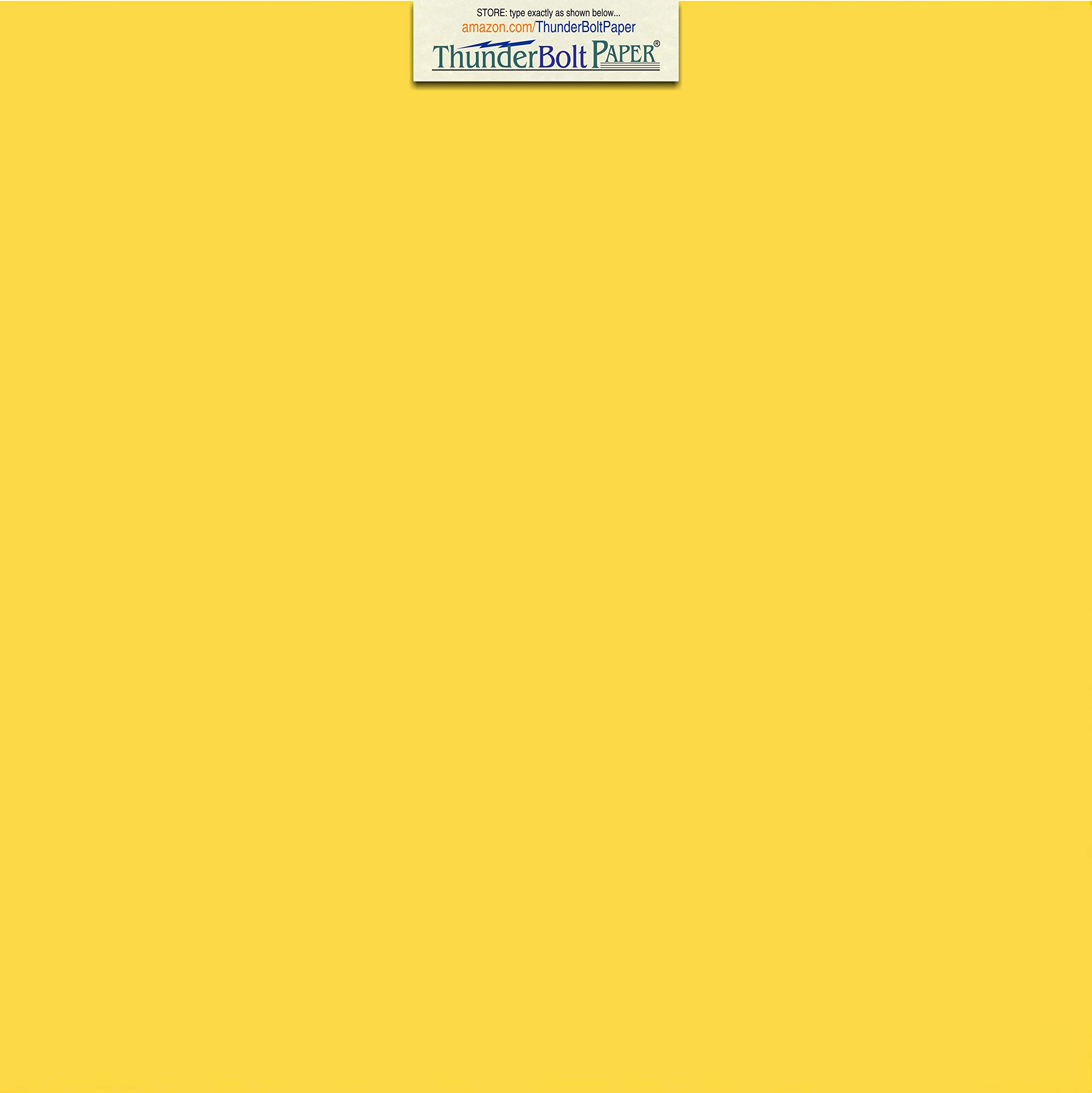 100 Bright Golden Yellow 65lb Cover|Card Paper - 12'' X 12'' (12X12 Inches) Scrapbook Album|Cover Size - 65 lb/pound Light Weight Cardstock - Quality Printable Smooth Surface for Bright Colorful Results