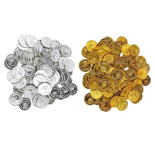 Baoblaze 200stk Spielmünzen Piraten Münzen Geschenk Münze Für