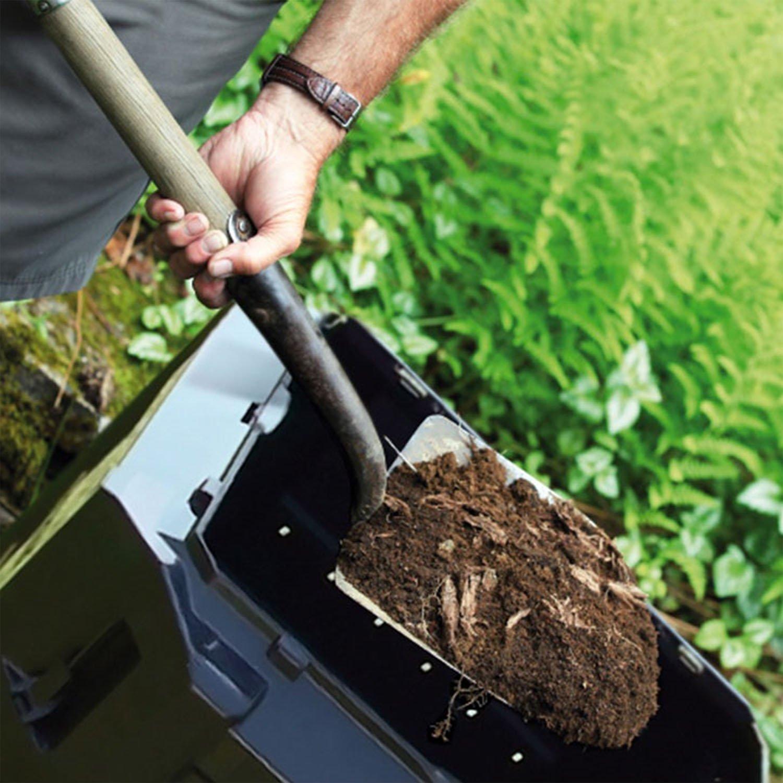 térmica bio compostador - Compostador plástico negro 380 litros ...