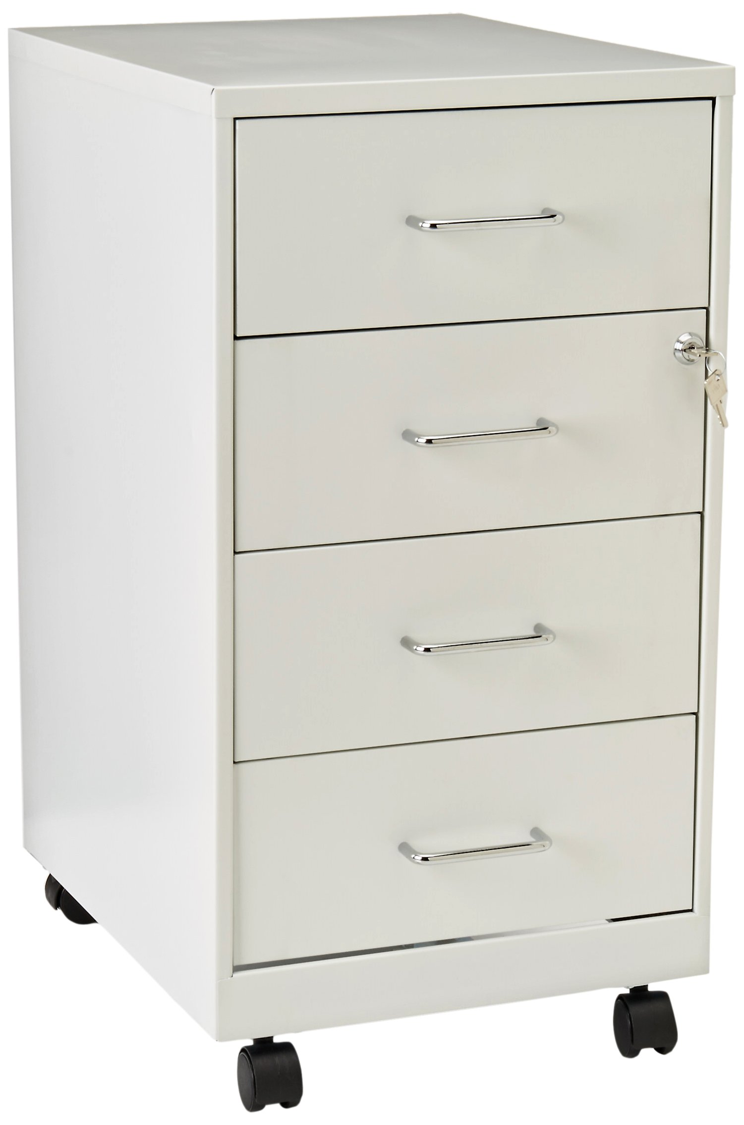 Lorell LLR19537 4 Drawer File Cabinet, White by Lorell