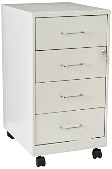 Hirsh Industries LLC 18u0026quot; 4 Drawer Steel File Cabinet In Pearl White