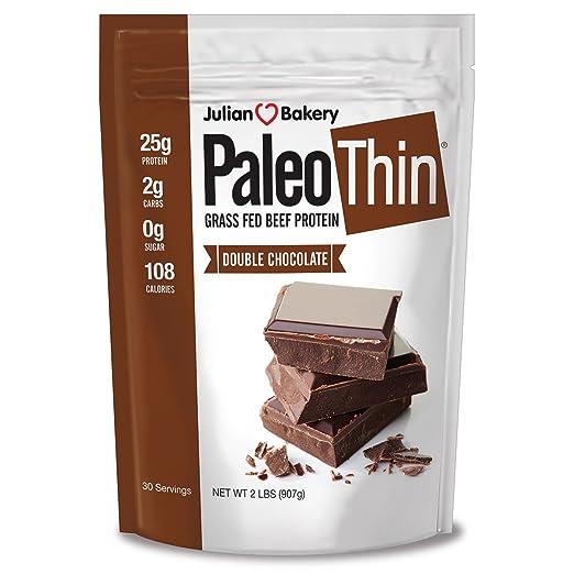 Julian Bakery Paleo Protein Double Chocolate Powder Grass Fed Beef, 2 Pound best paleo powder