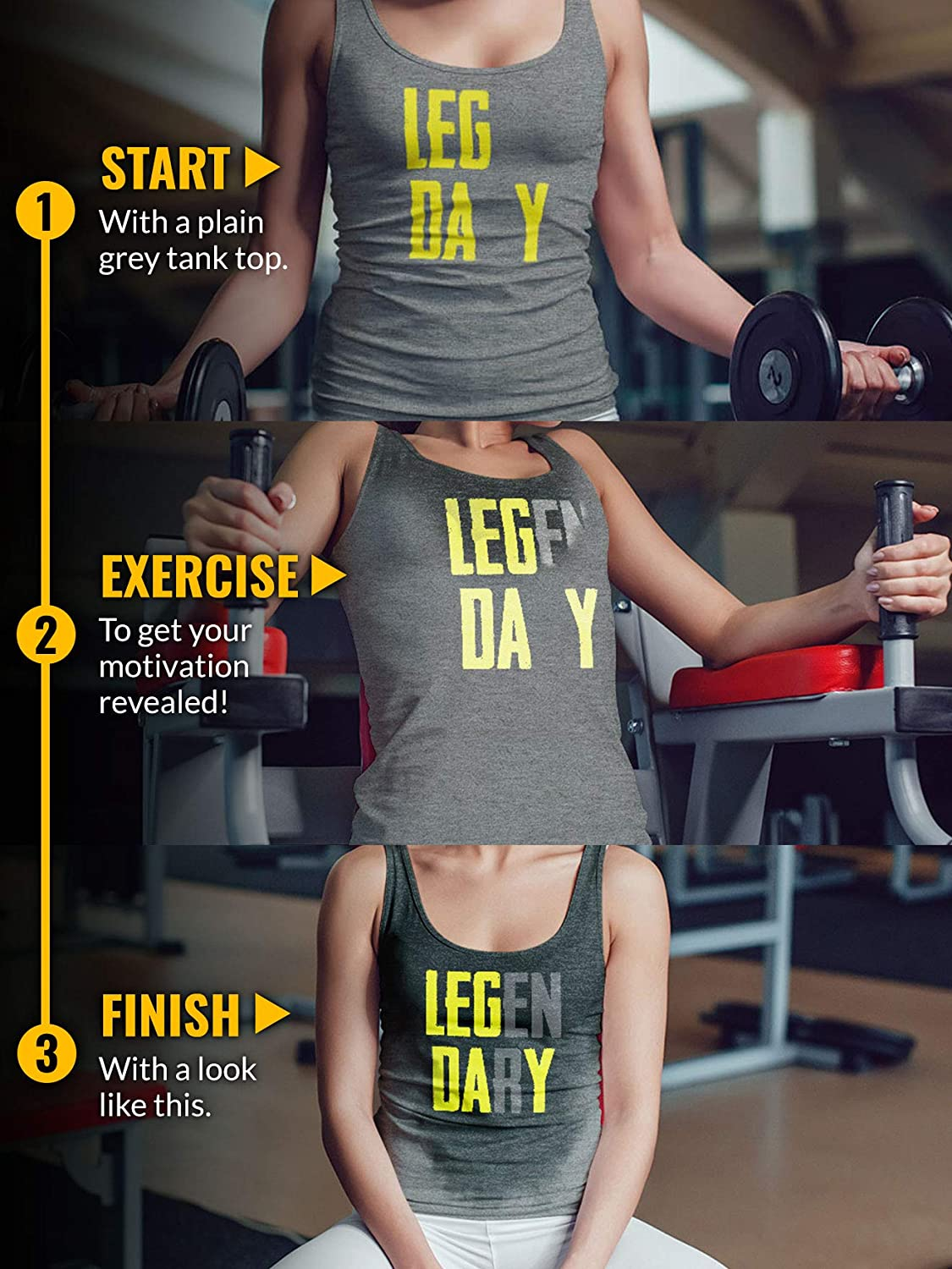 Legendary Leg Day Actizio Sweat Activated Funny Workout Womens Tank Top