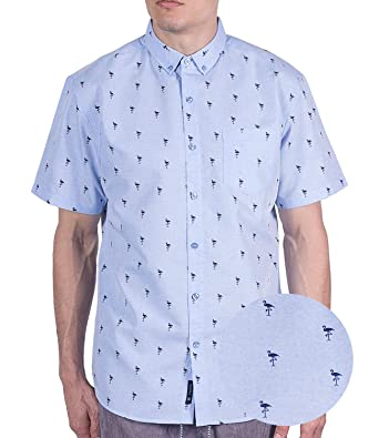 f888728e Visive Mens Short Sleeve Hawaiian Funny Button Down Up Shirt at Amazon Men's  Clothing store: