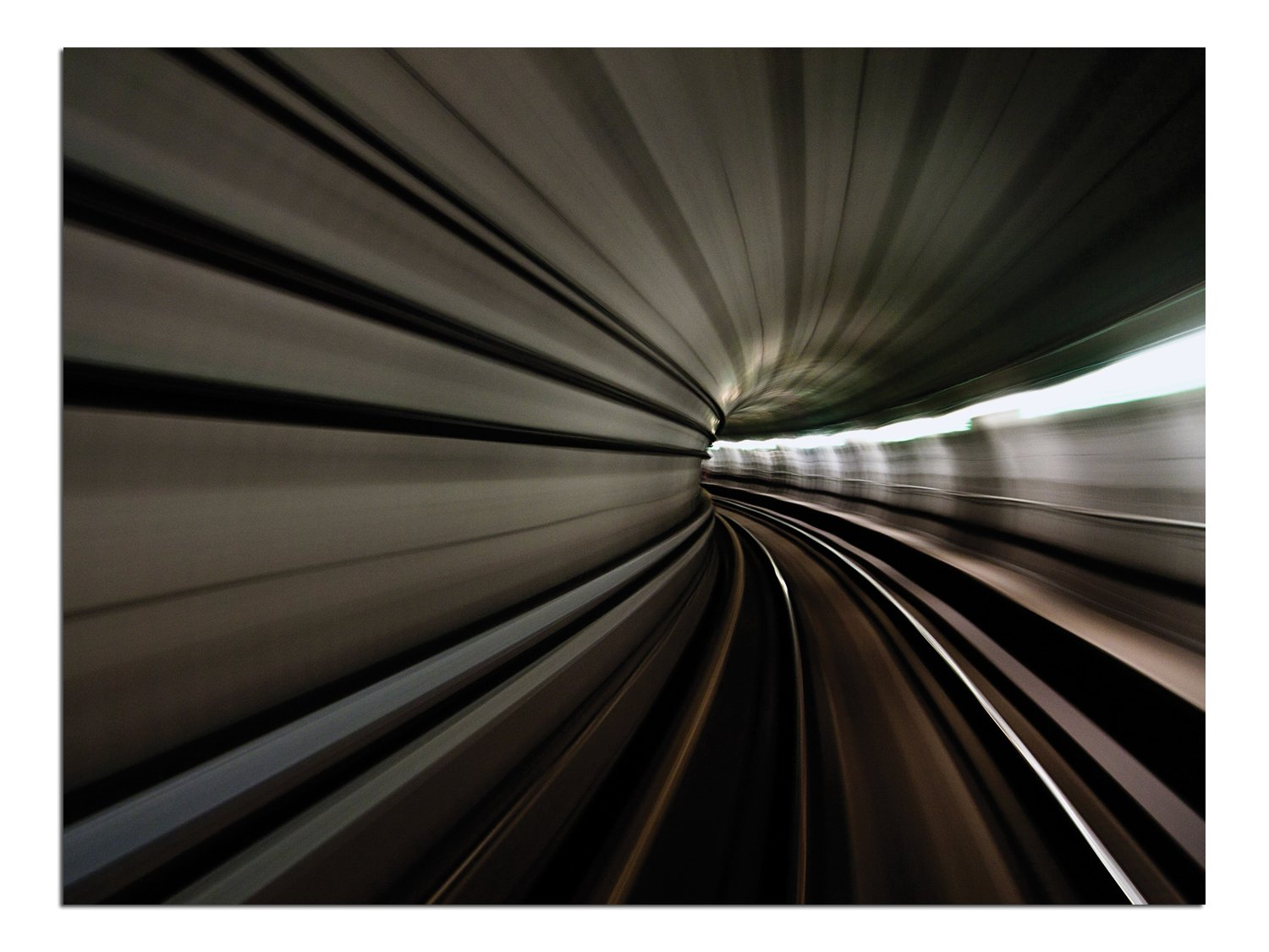 JP London Solvent Free Print PAPL1X39768 Worm Hole Subway Vortex Space Light Ready to Frame Poster Wall Art 40 h by 30 w