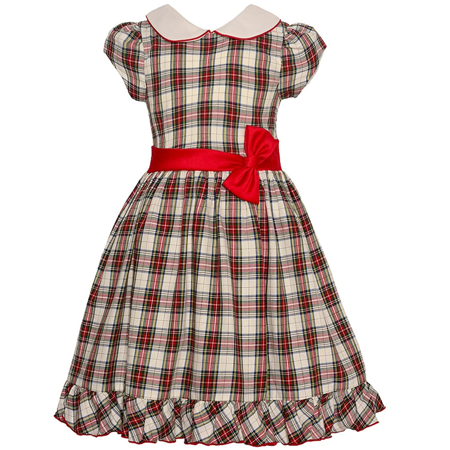 1930s Childrens Fashion: Girls, Boys, Toddler, Baby Costumes Bonnie Jean Girls Collared Cotton Dress $39.20 AT vintagedancer.com