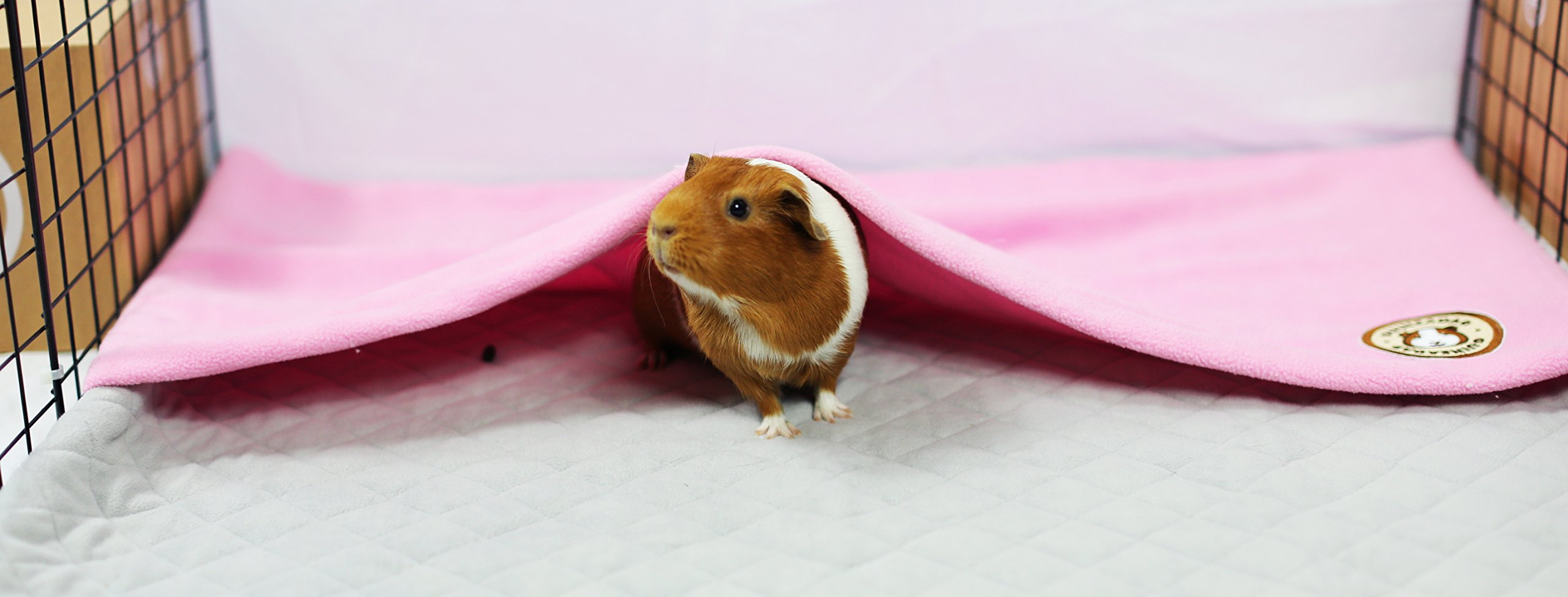 GuineaDad Fleece Liner 2.0 | Guinea Pig Fleece Cage Liners Bedding | Burrowing Pocket Sleeve | Extra Absorbent Antibacterial Bamboo | Waterproof | Available Various Cage Sizes by GuineaDad (Image #2)