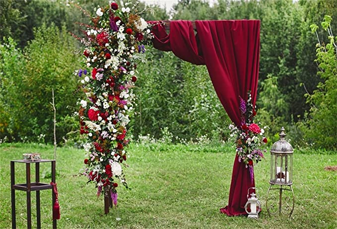 OERJU 5x4ft Romantic Wedding Backdrop Green Arch Vines Background for Photoshoot Bridal Shower Party Decorations Valentines Day Anniversary Table Banners Newborn Baby Shower Video Making Props