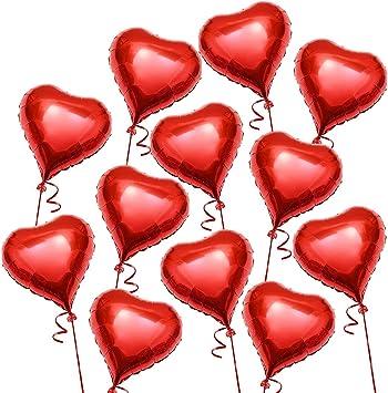Saint Valentin 20 Pack Rouge Amour Romantique Coeur Forme Ballons Fête De Mariage