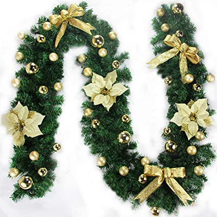ragdoll50 christmas garland decoration 27m christmas garland for stairs fireplaces christmas garland decoration xmas