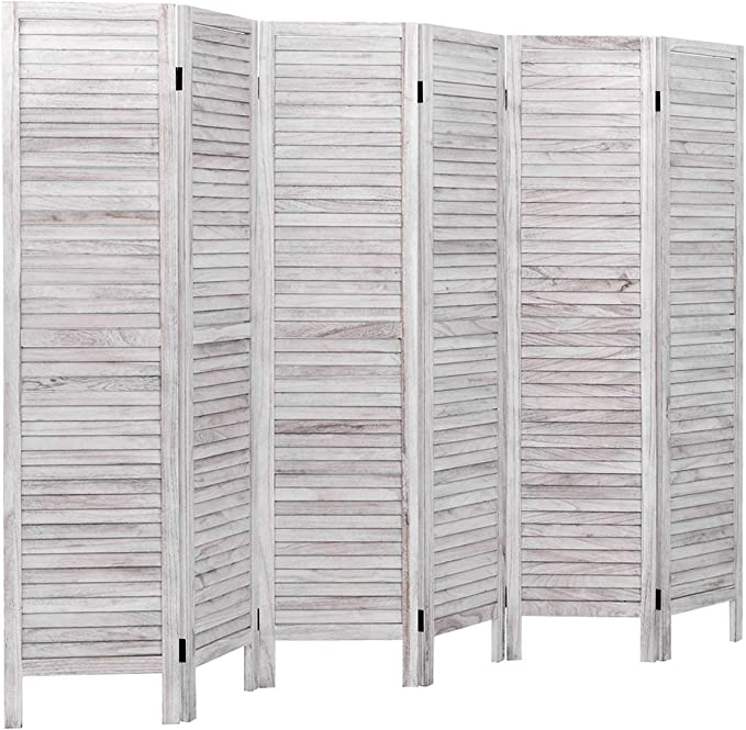Amazon Com Giantex 6 Panel Wood Room Divider 5 6 Ft Tall Oriental Folding Freestanding Partition Privicy Room Dividers Screen For Home Office Restaurant Bedroom White