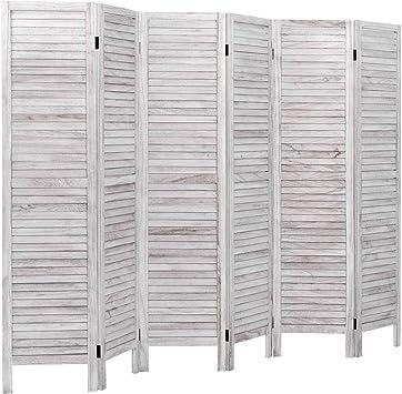 6 Panel Handmade Room Divider Home Decor Indoor Accessory Office Freestanding