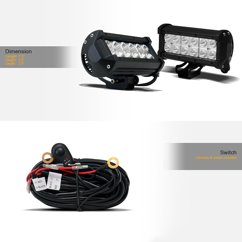 with 36W CREE LED Lights Bar For 10-18 Dodge Ram 2500//3500 Matte Black//Brush Aluminum Skid Plate Stehlen 714937185470 3 Classic Series Bull Bar