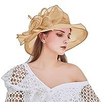 Women's Organza Church Kentucky Derby Hat Fascinator Bridal Tea Party Wedding Cap