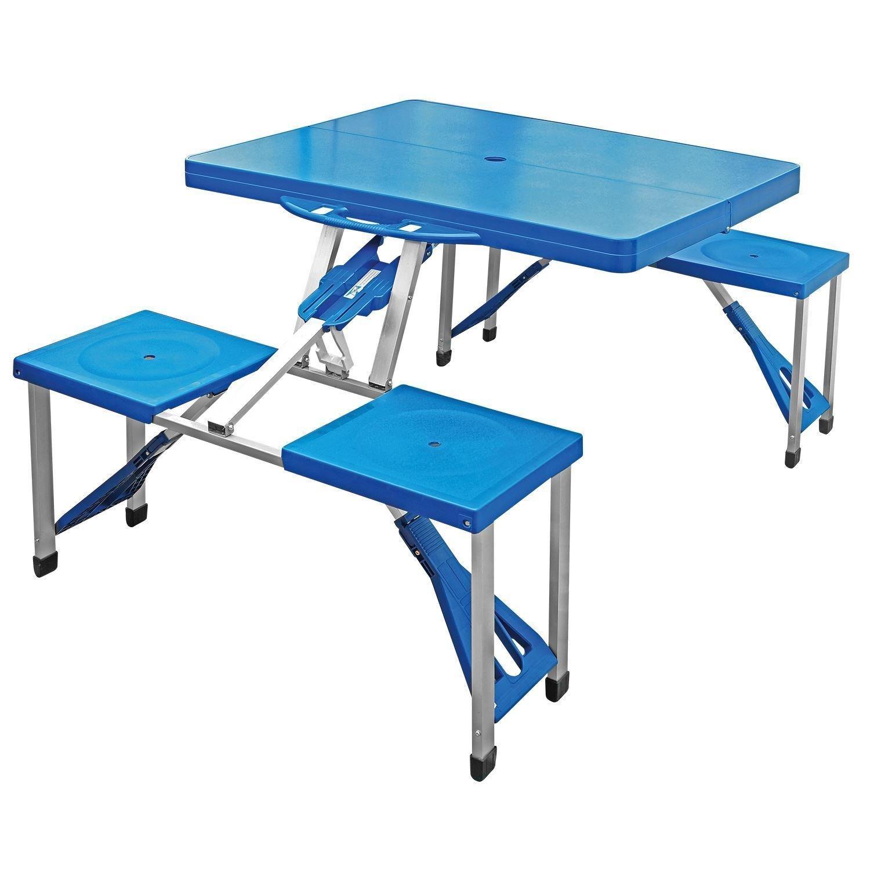 Tragbarer, Faltbarer Camping Picknick Tisch Party Outdoor Garten BBQ Stühle  Hocker Set, Günstig Online Kaufen