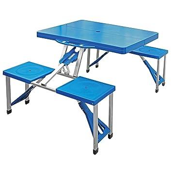 Portable mesa de picnic de camping plegable Partido barbacoa de jardín Taburetes, para exteriores