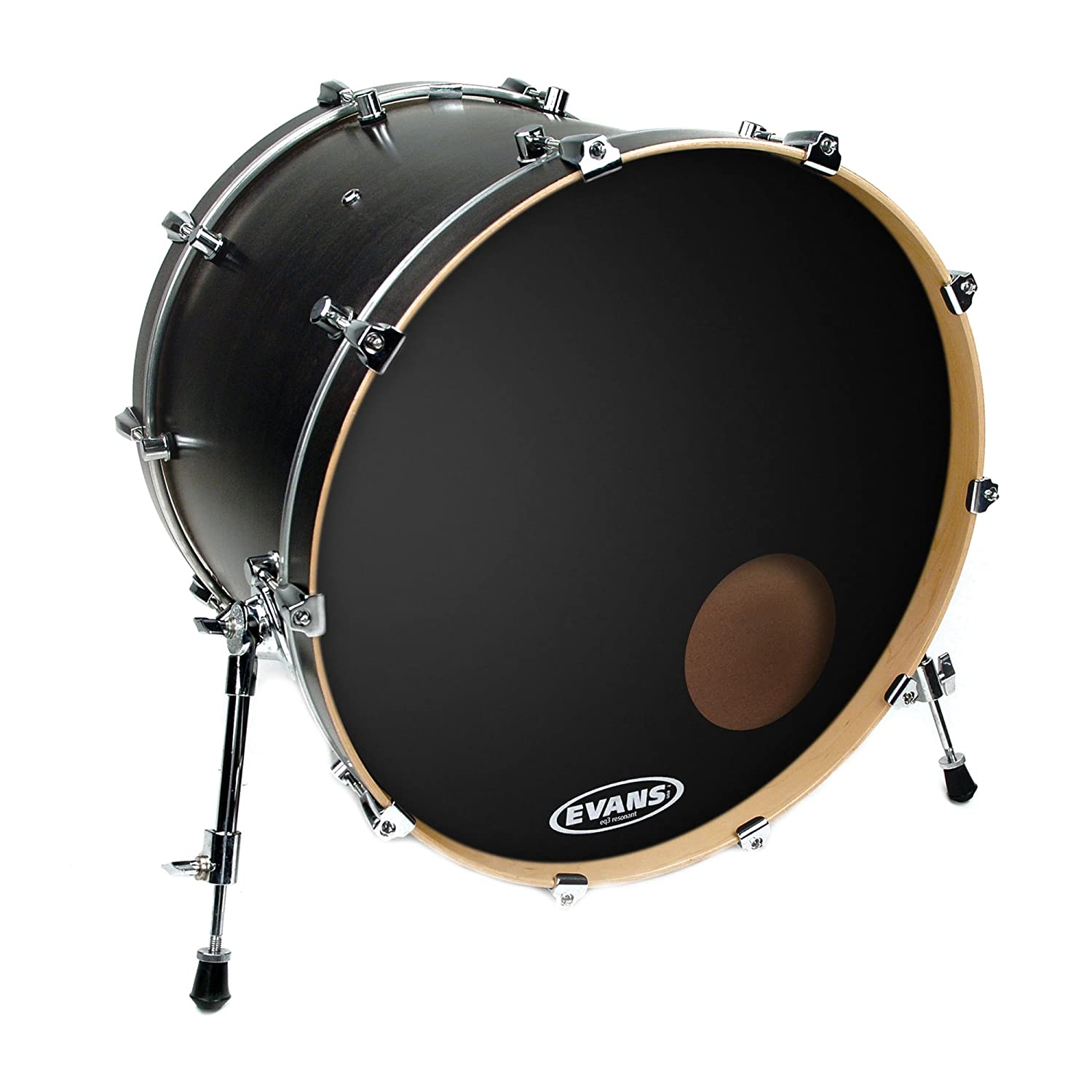 Evans EQ3 Resonant Black Bass Drum Head, 18 Inch,BD18RB Evans Heads