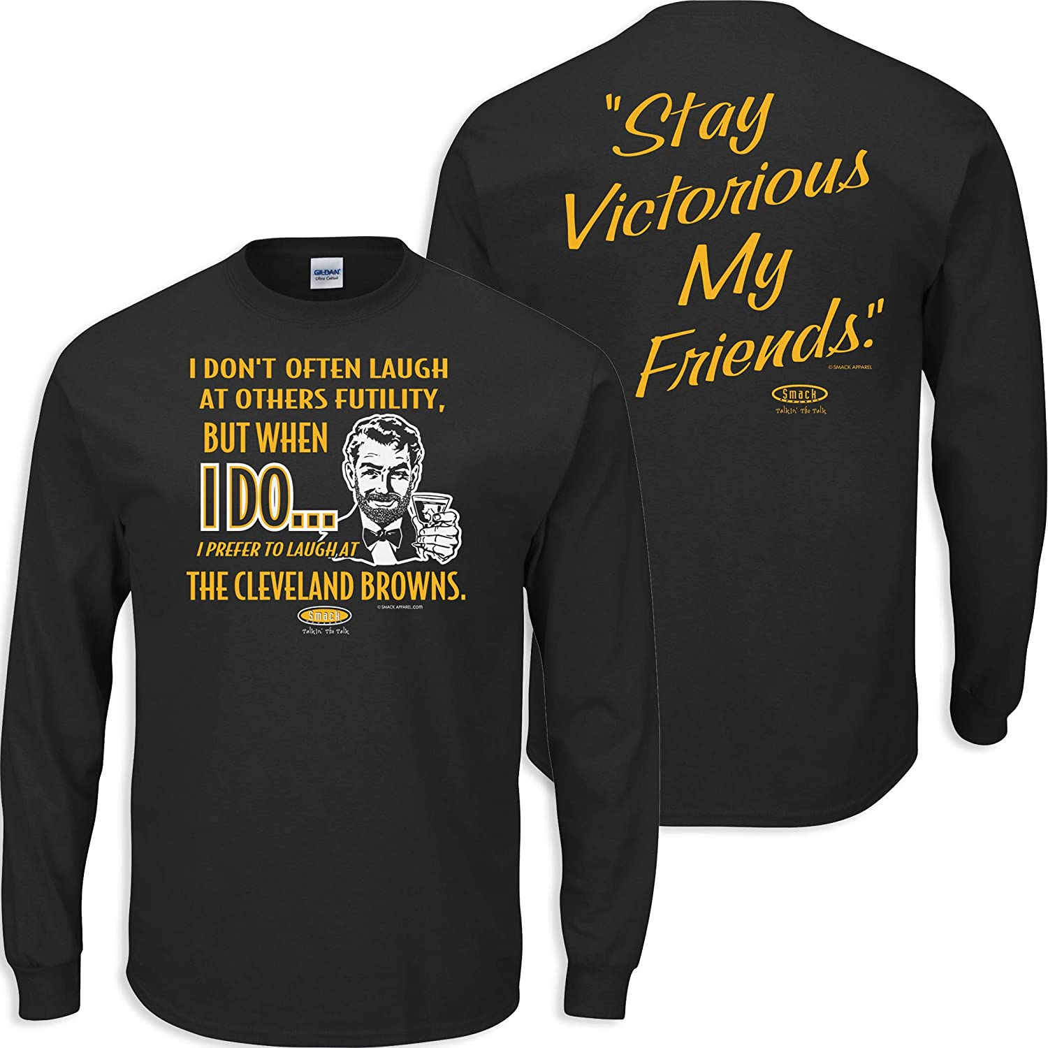 Anti-Browns Pittsburgh Football Fans Sm-5X Black T-Shirt Stay Victorious