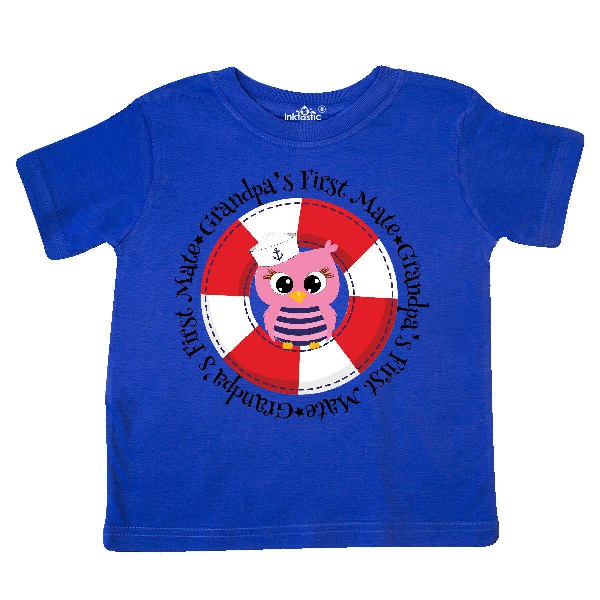 inktastic Grandpas First Mate Toddler T-Shirt