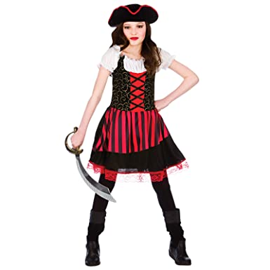 813361eaf793 Childrens Pretty Pirate Girl Halloween Fancy Dress Up Party Costume ...