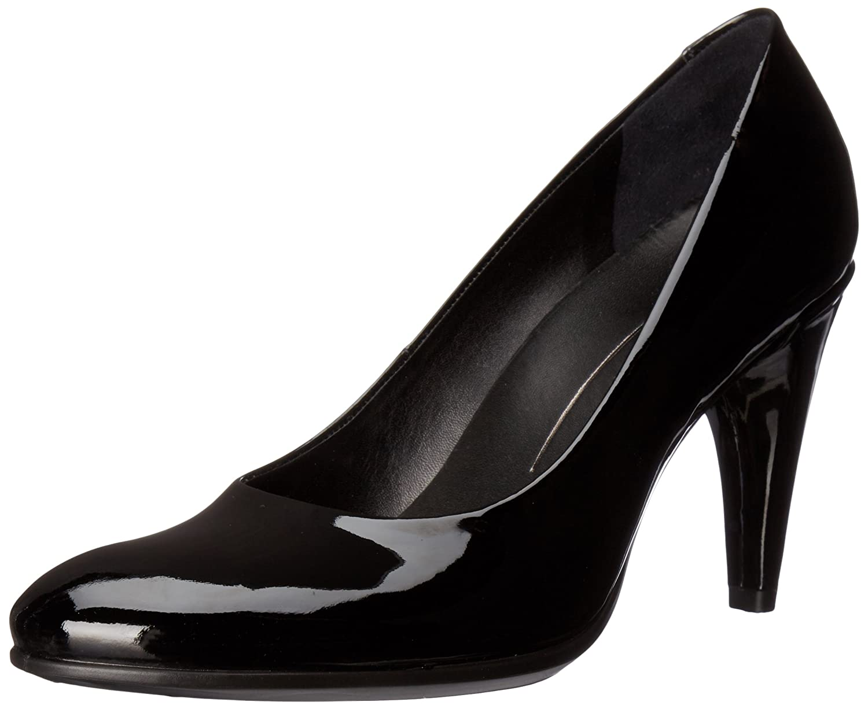ECCO Women's Shape 75 Sleek Dress Pump B01A9IQMSQ 38 EU/7-7.5 M US|Black Patent