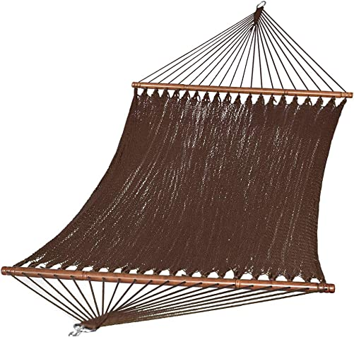 PG PRIME GARDEN 51 Inch 2 Person Caribbean Hammock, Rope Woven Swing Bed for Outdoor Patio, 450 Pounds Capacity